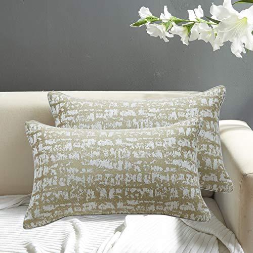 FRECINQ Juego de 2 Cojines Sofa Fundas Cojines 30x50 cm Estilo Nordico la Almohada de la Cama para el Sofa Sillas Jardín Decoración del Hogar(dorado,30 x 50 cm)