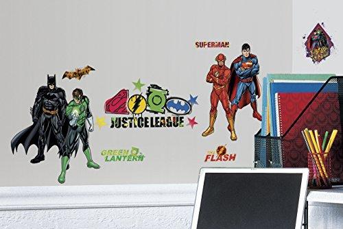 RoomMates RMK2138SCS Liga de la justicia descasconcharse y pegar etiquetas de la pared