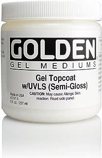Golden Dgtl Gel Topcoat W/Uvls S-Gloss 8 Oz