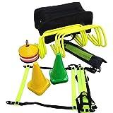 CW Workout Trainer Kit 6 Hurdles+ Adjustable Ladder Soccer Marker Disc Saucer Marker Cones