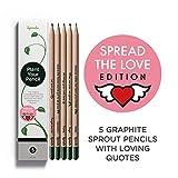 Sprout Bleistifte – Spread the Love Edition | Stifte zum Einpflanzen | aus unbehandeltem Bio...