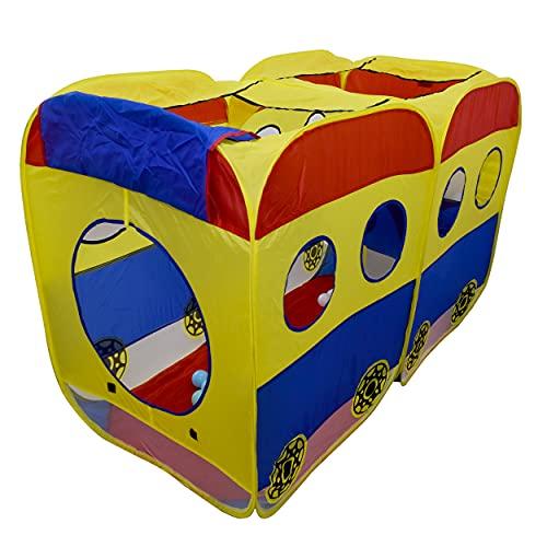 REPLOOD Tienda de campaña multicolor para niños con 100 bolas Pop-up 145 x 72 x 96 cm
