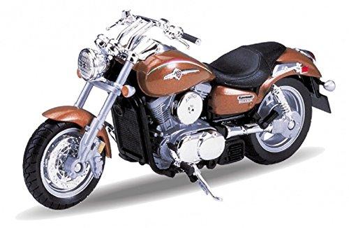 DieCast Modell Motorrad Kawasaki Vulcan 1500 Mean Streak 2002 Braun Metall Welly Motorradmodell 1:18