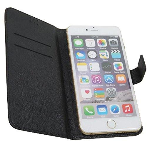 Tasche für Smartphone simvalley MOBILE SPX-34, Kunstleder, 154 x 80 x 18mm, schwarz