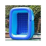 XIEJING Piscina Hinchable Familia Inflable Piscina Jardín Verano Niños al Aire Libre Pool Pool (Color : Blue)