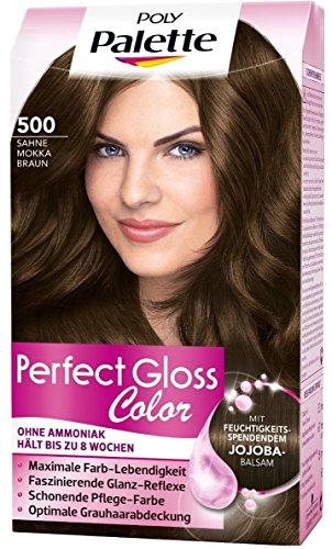 Poly Palette Perfect Gloss Color Tönung, 500 Sahne Mokka Braun, 1er Pack (1 x 115 ml)