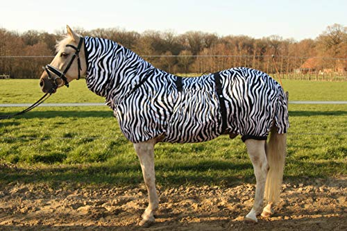 Hafer24 Ekzemerdecke Fliegendecke Master - Farbe Zebra alle Gr. 85 cm - 165 cm (85)