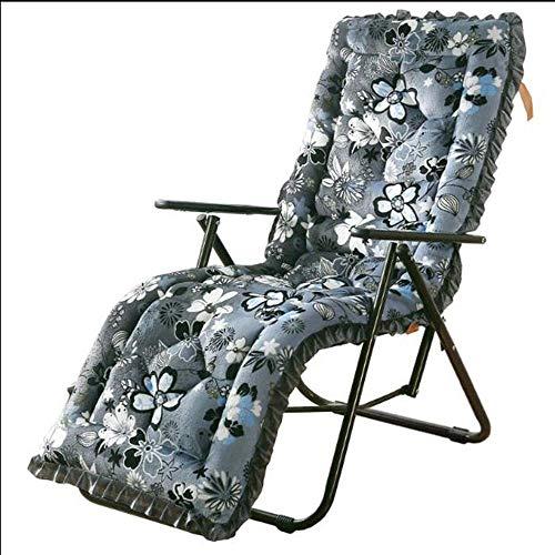 N /A Coussin inclinable en peluche épais amovible et lavable pour chaise pliante chaise à bascule universelle (couleur : 1, taille : 48 x 148 cm (sans dentelle), 1, 53*163cm (without lace)