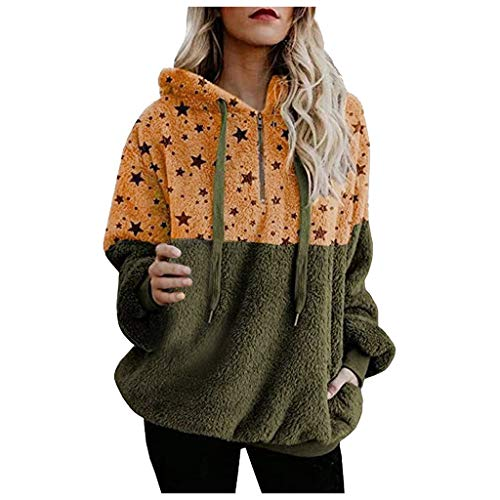 Why Choose 117 Sweaters for Women Plus Size Hooded Winter Warm Pullover Zipper Pockets Coat Basic Ou...