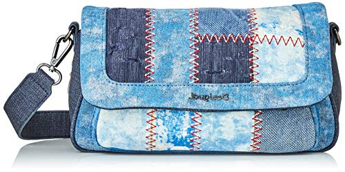 Desigual Womens Denim Across Body Bag, Blue, U