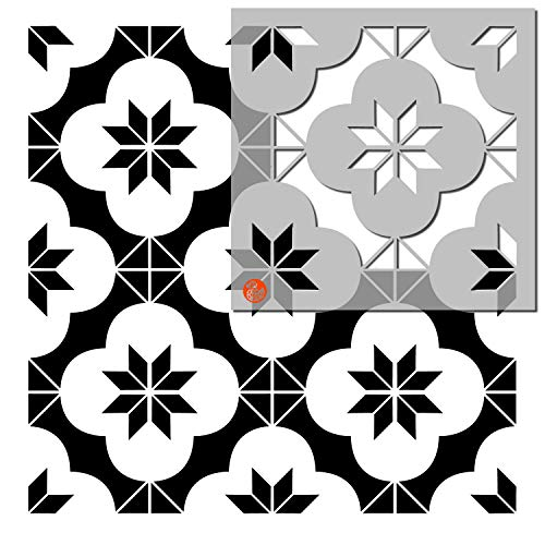 Pack of Two - Tile Stencils - Dizzy Duck Designs - Warwick - Custom Sizing Available - 4' (101mm) Multi Tile pk