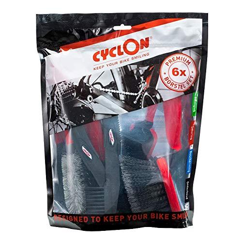Cyclon Fahrrad Reinigungsbürsten Set Brush Kit 6 tlg Zahnkranz, Detail, Soft Bürste