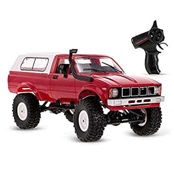 GoolRC RC Truck 1/16 Scale 4WD 2.4GHz Remote Control Car RC Off-Road Crawler Truck Vehicles with Headlight for Kids Adults  Red