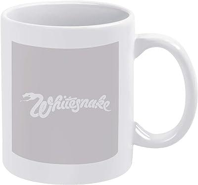 ホワイトスネイク Whitesnake マグカップ セラミックマグ 大容量 ハンドル磁器 陶器 耐熱 自宅 ミルク 広口タイプ 醸造ココアカップ 滑り止め オフィス 贈り物 ギフト食器 キッチン用品