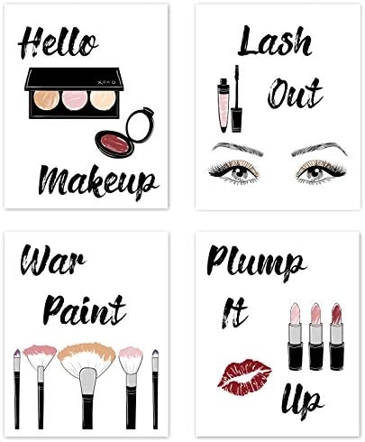 Glam Makeup Fashion Wall Art Posters Pictures Sayings Home Decor Chic Decorations Prints for product image