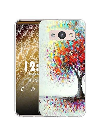 Sunrive Cover Compatibile con Huawei Y3 (2017)/Y3 (2018), Custodia Case in Molle Trasparente Silicone Morbida Flessibile AntiGraffio Protettiva Back custodie(Q Albero 2)