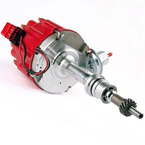 Brand New Compatible Ignition HEI Red Cap Distributor with 65K Volt Coil 1030213 PE330U for SBF Ford Small Block 260 289 302