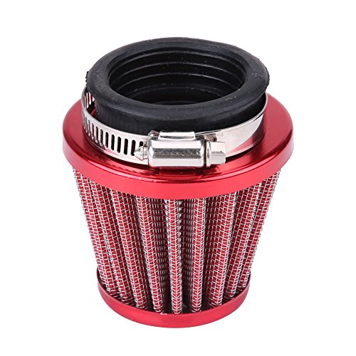 44 mm luchtfilter, luchtfilter stapel adapter voor 2 gy6 150 cc quad 4 wielen gokart buggy roller moped motor carburateur mini motorfiets kinderen ATV dirt pocket bike gokart default rood