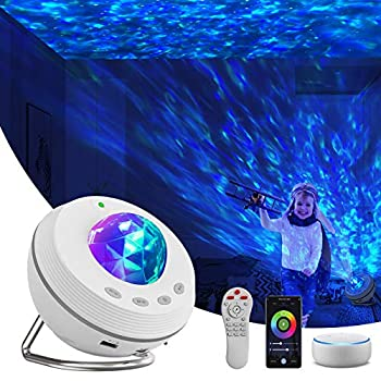Star Projector Night Light Projector 4 in 1 Galaxy Projector 85° Rotating,with Bluetooth Music Speaker Phone App Remote Control for Baby Kids Bedroom/Game Rooms/Home Theater/Birthday/Party /Wedding