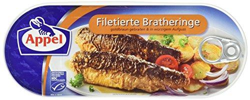 Filetierte Bratheringe, in würzigem Aufguss, MSC zertifiziert,200 g