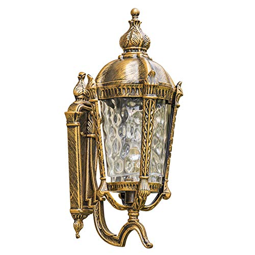 Wandlamp voor buiten, retro, versnelling, deuropening, balkon, loop, vin, terras, trap, entree, tuin, hek, decoratie, creatieve ijzeren kunst kandelaar Large bronskleurig