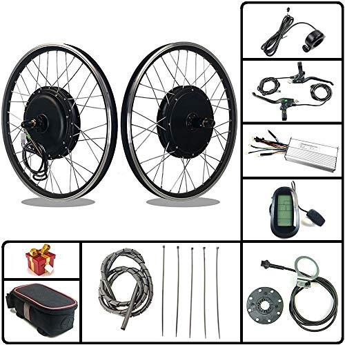 RICETOO Kit de conversión de Bicicleta eléctrica 48V 1500W 20