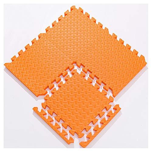WUZMING-Puzzlematten Weiche Babyspielmatte Kinderpuzzle Waschbar Yoga Fitness Bodenschutzmatte Benutzt for Wohnzimmer Schlafzimmer (Color : Orange, Size : 30X30X1.2cm-16PCS)