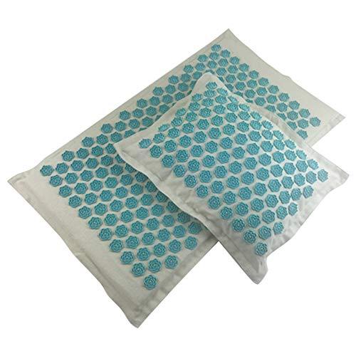 Hihey acupressuurmat voor een weldadige ontspanning voor zelfmassage, ontspanning, bevordering van de doorbloeding Natuurlijke turquoise.