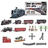 H0_V Eisenbahn elektrisch Set Modelleisenbahn Containerzug H0 Modellbahn Startset - Sound, Licht und Rauch - Elektrische Lokomotive -