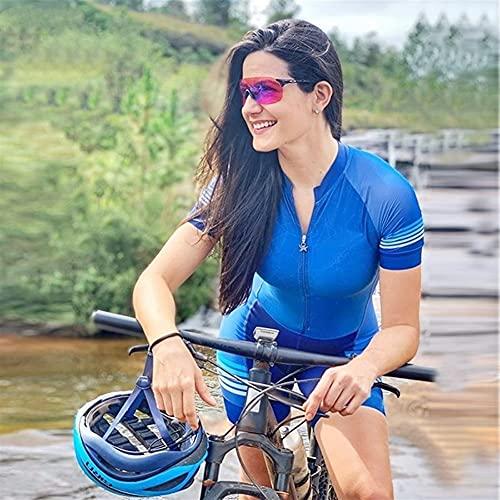 Frauen Radfahren Jersey Triathlon Radfahren Strumpfhosen Feminino Jumpsuit Damen Jumpsuit Sweatshirt Set (Color : 03, Size : Small)