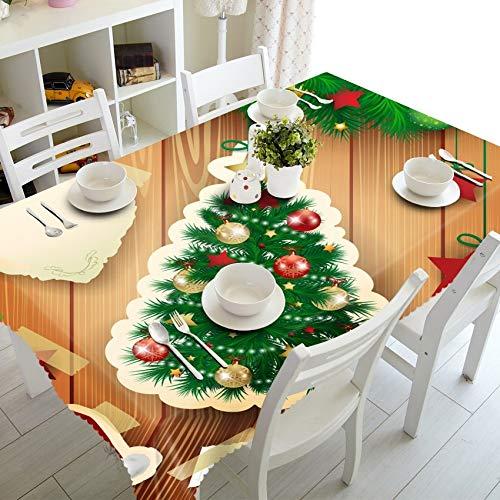LWF-tafelkleed, Europees 3D-design, dik, polyester, rechthoekig en vierkant.