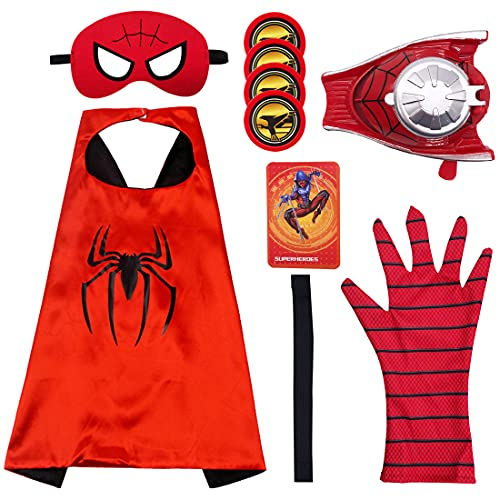 Capa de Superhéroe para Niños - Miotlsy Divertidos Superhéroes Capas para Niños - Disfraces Infantiles para Cosplay de Fiesta de cumpleaños - Juguetes para Niños y Niñas (9pcs )