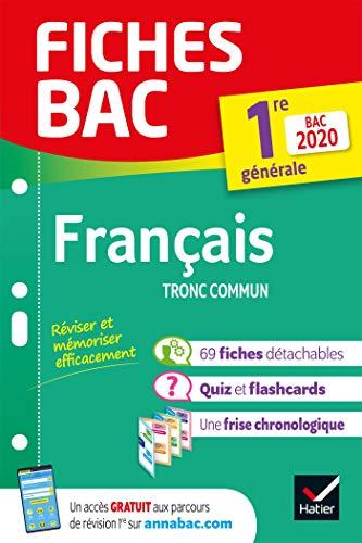 Fiches bac Français 1re générale Bac 2020: inclus oeuvres au programme 2019-2020