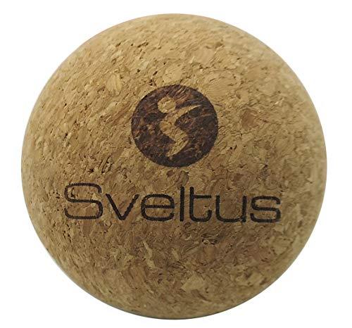Sveltus Balle de Massage Ø6,5 cm Mixte Adulte, Marron (Liège), Taille Unique