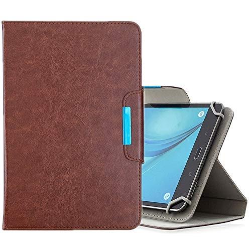 Xyamzhnn HH-Étui pour tablettes de 10 Pouces Couleur Universelle Solide Couleur Horizontal Toam Coating avec Machines à sous Cartes et Portefeuille et Portefeuille (Color : Brown)