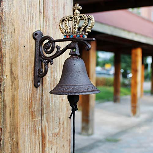 CKH Personaliteit Moda gietijzer handwerk eenvoudige ornamenten van smeedijzer Creative Retro Garden Hand Bell