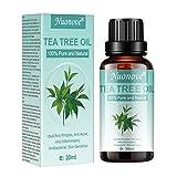 Tea Tree Essential Oil, Aceite de Arbol de Te, Aceite esencial de árbol de té para cara y Cuerpo masaje, anti-acné, manchas y problemas de la piel, 30ml