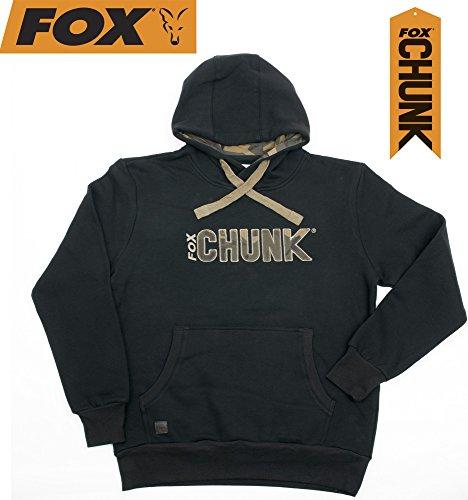 Fox Chunk Camo Applique Hoody Black Kapuzenpullover, Pullover, Kapuzenpulli, Pulli, Angelpullover, Foxpullover, mit Reißverschluss, Hoodie, Größe:XL