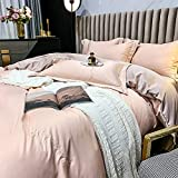 Bedding-LZ Funda De EdredóN Cama 90,Boceto Lavado Triple Four Set White Hotel Wind Summer Ice Silk Supplies-Mi_Cama De 2.0m (4 Piezas)