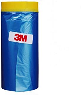 3M Automotive Best Masking Tape Painting, Tape and Drape Pre-Taped Masking Film (65 Feet) (35.4 In)