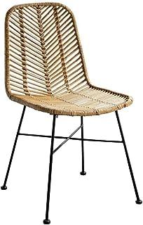 TJLSS Sillas mobiliarios Moderno Estilo Minimalista Silla sillas de Mimbre Tejida Mano Libre salón