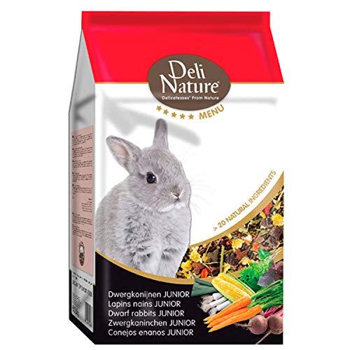 DELINATURE Mixtura para Conejos Enanos JUNIOR, Menú 5*, Delinature, 2,5 kg, Pequeños Mamíferos