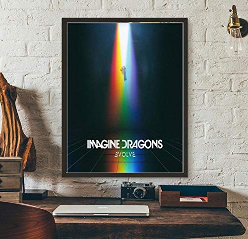 YOUCAIHUA Art Poster Imagine Dragons Music Album Cover Posters and Prints Wall Picture Canvas Painting Room Home Decoration 40 * 60cm Without Frame