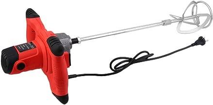 Rouge 800r // min et contr/ôle de vitesse /à 6 niveaux Malaxeur professionnel Mixeur de mortier Malaxeur /à main m/élangeur /à b/éton Batteur agitateur mortier Cozyel 2100 W M/élangeur