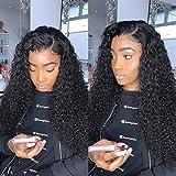U Part Wig Human Hair Kinky Curly Wigs for Black Women, 12 inch Half Wig 2x4 U Shape Clip in Wigs Curly U Part Wig Brazilian Virgin Hair Replacement Wigs
