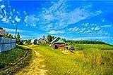 Lienzo impreso de alta calidad sobre lienzo enrollado (no enmarcado), Lienzo de lona., Pueblo ruso Nahe Smolensk Haus Landdlich M72, 120 x 80 cm