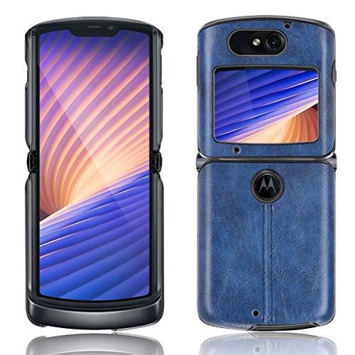 GOGME Hülle für Motorola Razr 5G/4G Hülle, Ultra-Slim Silikon Handyhülle Leder-Erscheinungsbild Retro Schutzhülle, Stoßfeste Handy-Tasche für Motorola Razr 5G/4G, Blau
