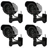 NONMON Camera Factice,Fausse Caméras de Surveillance Sécurité Dôme Dummy CCTV Cameras avec...