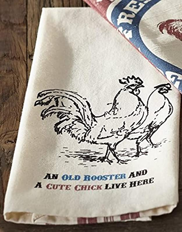Farm Feed Old Rooster Dishtowel Country Farmhouse Kitchen Dish Towels