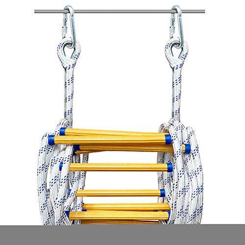 Escalera De Cuerda De Rescate A Prueba De Fuego, Escalera Multiusos para Emergencias Difíciles, Escalera De Cuerda De Rescate para Uso Rápido En Incendios/Desastres
